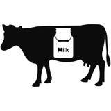 Vectorillustratie van koe op witte achtergrond Stock Afbeelding