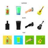 Vectorillustratie van koffie en Latijns symbool Reeks van koffie en nationaal voorraadsymbool voor Web vector illustratie