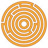 Vectorillustratie van labyrint Royalty-vrije Stock Foto