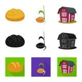 Vectorillustratie van landbouw en de landbouwsymbool Reeks van landbouw en het symbool van de installatievoorraad voor Web royalty-vrije illustratie