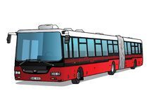 Vectorillustratie van lange bus vector illustratie