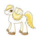 Vectorillustratie van leuk paard, koninklijke poney Royalty-vrije Stock Afbeeldingen