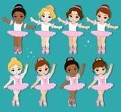 Vectorillustratie van leuke kleine ballerina's vector illustratie
