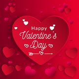 Vectorillustratie van liefde en de Daginschrijving van Gelukkig Valentine vector illustratie