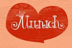 Vectorillustratie van München logotype Stock Foto's