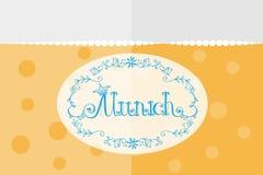 Vectorillustratie van München logotype Royalty-vrije Stock Foto's