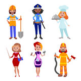 Vectorillustratie van mensen de verschillende beroepen Royalty-vrije Stock Afbeeldingen