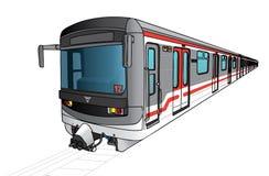 Vectorillustratie van metro Stock Fotografie
