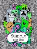 Vectorillustratie van Monsters en leuke vreemdeling Royalty-vrije Stock Fotografie