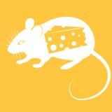 Vectorillustratie van muis op oranje achtergrond Royalty-vrije Stock Foto