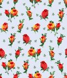 Vectorillustratie van naadloos bloempatroon stock illustratie