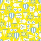Vectorillustratie van naadloos patroon met de zomersymbolen Royalty-vrije Stock Afbeelding