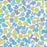 Vectorillustratie van naadloos patroon met hand getrokken lijnen te Stock Afbeeldingen