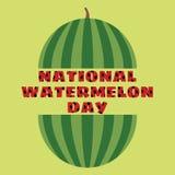 Vectorillustratie van nationale watermeloendag Royalty-vrije Stock Foto's