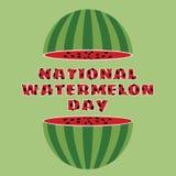 Vectorillustratie van nationale watermeloendag Royalty-vrije Stock Foto