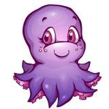 Vectorillustratie van octopus in beeldverhaalstijl Stock Foto
