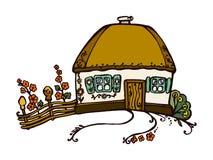Vectorillustratie van Oekraïens hutbeeld vector illustratie