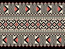 Vectorillustratie van Oekraïens volks naadloos klopje Stock Foto