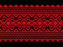 Vectorillustratie van Oekraïens volks naadloos klopje Royalty-vrije Stock Foto