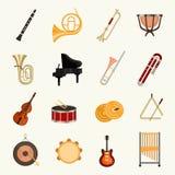 Vectorillustratie van orkest de muzikale instrumenten royalty-vrije illustratie