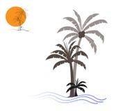 Vectorillustratie van palmen Royalty-vrije Stock Afbeeldingen