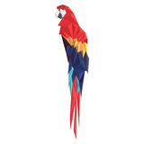 Vectorillustratie van papegaai op witte achtergrond Royalty-vrije Stock Afbeelding