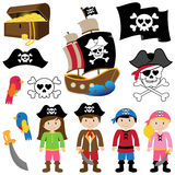 Vectorillustratie van Piraten Stock Afbeelding