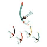 Vectorillustratie van professioneel zwemmend die materiaal in FL wordt geplaatst Royalty-vrije Stock Foto's