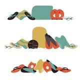 Vectorillustratie van professioneel zwemmend die materiaal in FL wordt geplaatst Royalty-vrije Stock Foto