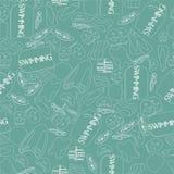 Vectorillustratie van professioneel zwemmend naadloos materiaal Royalty-vrije Stock Foto