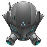 Vectorillustratie van Robothoofd Stock Foto's