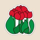 Vectorillustratie van rode tulpen. Royalty-vrije Stock Foto
