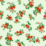 Vectorillustratie van rood rozen naadloos patroon vector illustratie