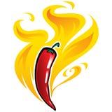 Vectorillustratie van roodgloeiende Mexicaanse kruidige koele peper Royalty-vrije Stock Fotografie