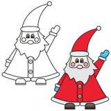 Vectorillustratie van Santa Claus Stock Foto's