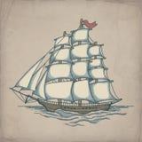 Vectorillustratie van schip Royalty-vrije Stock Fotografie