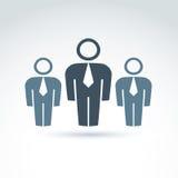 Vectorillustratie van silhouetten van mensen status Royalty-vrije Stock Afbeeldingen