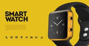 Vectorillustratie van slim horloge Royalty-vrije Stock Foto's