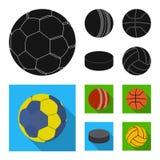 Vectorillustratie van sport en balsymbool Inzameling van sport en atletische voorraad vectorillustratie stock illustratie