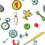 Vectorillustratie van sportenreeks kleurrijk Stock Fotografie
