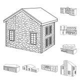 Vectorillustratie van stad en bouwembleem Reeks van stad en landgoed vectorpictogram voor voorraad royalty-vrije illustratie