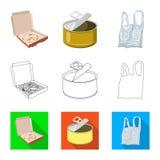 Vectorillustratie van stortplaats en soortembleem Inzameling van stortplaats en troep vectorpictogram voor voorraad royalty-vrije illustratie
