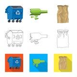 Vectorillustratie van stortplaats en soortpictogram Inzameling van stortplaats en troep vectorpictogram voor voorraad stock illustratie