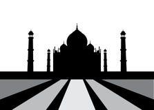Vectorillustratie van Taj Mahal stock afbeeldingen