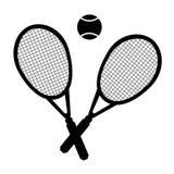 Vectorillustratie van tennisreeks Stock Afbeeldingen