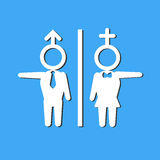 Vectorillustratie van Toiletteken Stock Foto's