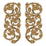 Vectorillustratie van traditioneel gouden Thais ornament royalty-vrije illustratie
