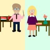 Vectorillustratie van twee leraren Royalty-vrije Stock Fotografie