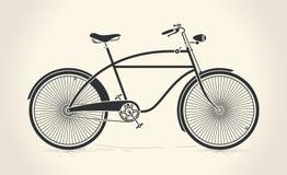 Vectorillustratie van uitstekende fiets Stock Afbeeldingen