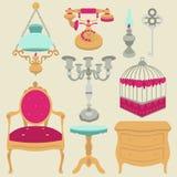 Vectorillustratie van uitstekende retro decorpunten royalty-vrije illustratie